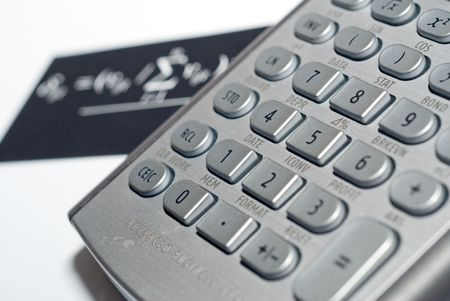 closeup of advanced financial analysis calculator background Stock Photo - 4827360