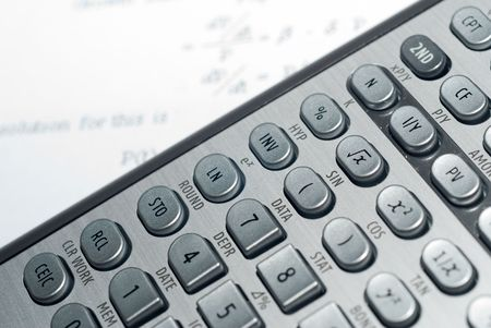 closeup of advanced financial analysis calculator background Stock Photo - 4827369