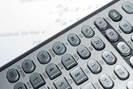 closeup of advanced financial analysis calculator background Stock Photo - 4827369