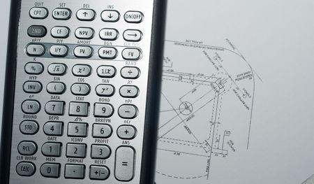 closeup of advanced financial analysis calculator background Stock Photo - 4827371