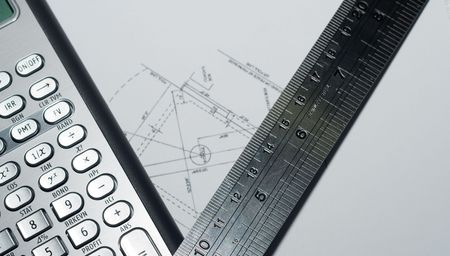 closeup of advanced financial analysis calculator background Stock Photo - 4827358