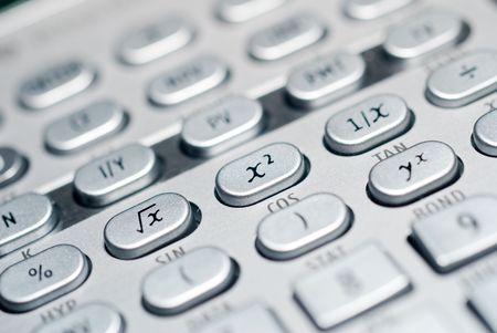 高度な財務分析計算機背景のクローズ アップ 写真素材