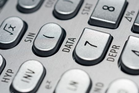 closeup of advanced financial analysis calculator background Stock Photo - 4827359