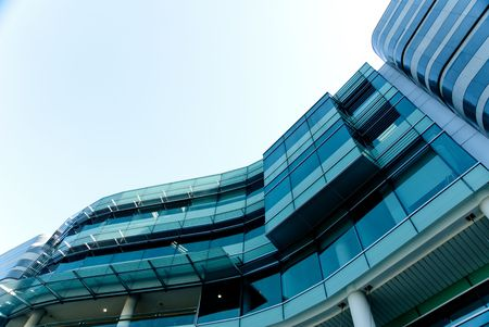 modern building exterior with main material of glass Stock Photo
