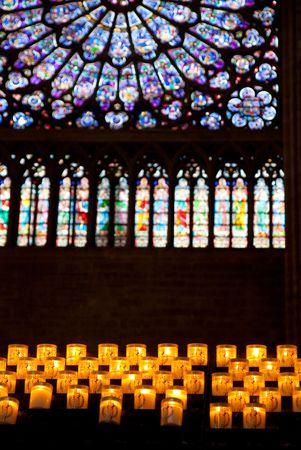 interior and exterior design of famous church in paris Stock Photo - 5184760