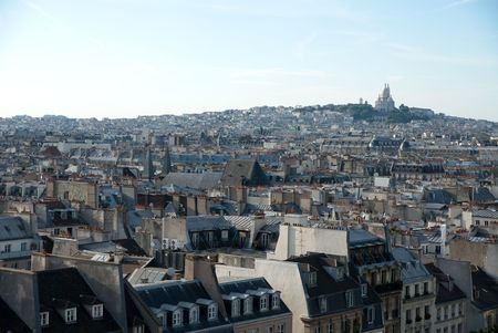 paris city building group with church overview photo