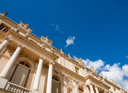Classical Paris royal building exterior in palace photo