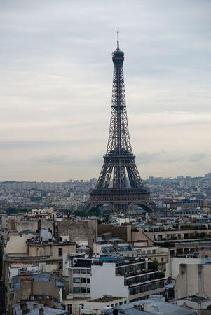 住宅の家のパリ市トップ概要 写真素材
