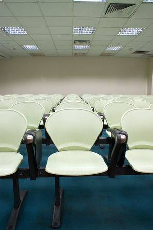 Modern light green Seat arrangement in University lecture room photo