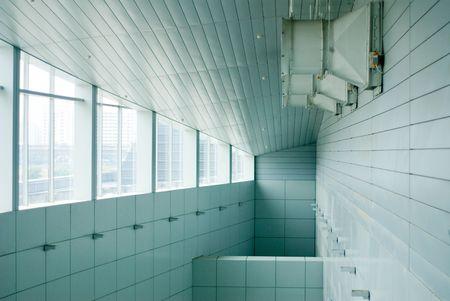 Modern achitecture building interior design with nobody