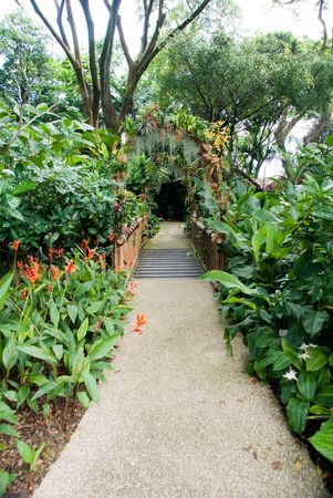 beautiful design of natural garden entrance Stock Photo - 6020030