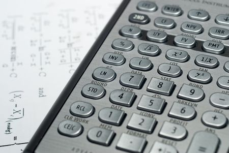 closeup of advanced financial analysis calculator background Stock Photo - 6019796