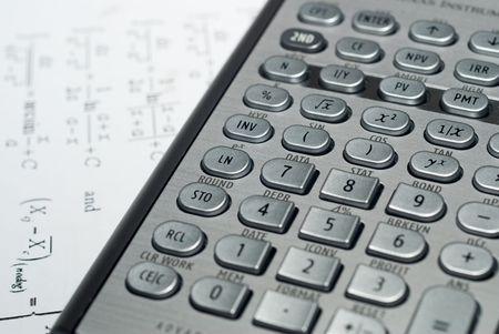 closeup of advanced financial analysis calculator background Stock Photo - 6019796