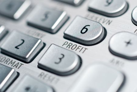 closeup of advanced financial analysis calculator background Stock Photo - 6019615