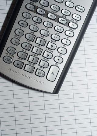 closeup of advanced financial analysis calculator background Stock Photo - 6019907