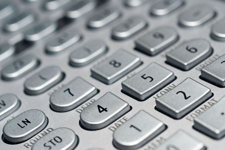 closeup of advanced financial analysis calculator background Stock Photo - 6019797