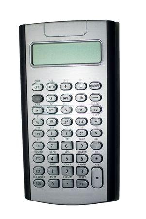 closeup of advanced financial analysis calculator background