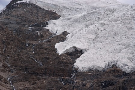 mountain glacier in tibet of china in summer