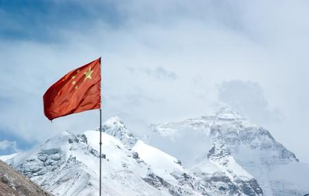 mount everest: Mount Everest mit Schnee bedeckten im Sommer