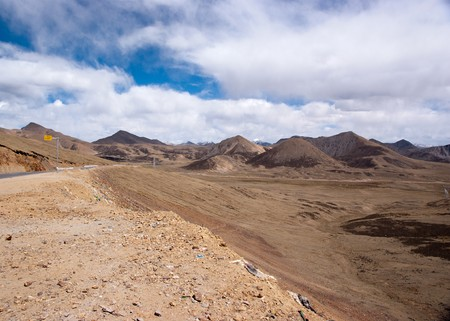 tibet landscape in western part of china