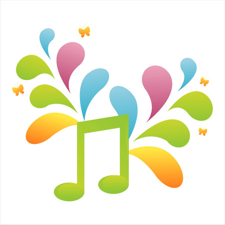 colorful musical note background Stock Vector - 7537732