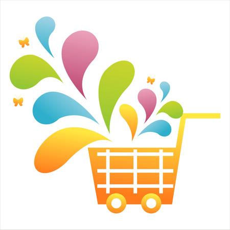 colorful basket Illustration