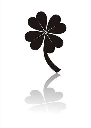 clover silhouette isolated on white Stock Vector - 7537539