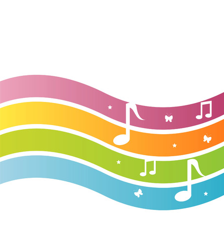 musical backgrounds: colorful musical background