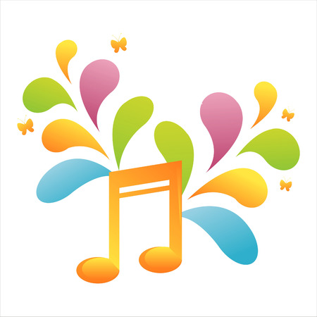 colorful musical note background Stock Vector - 7537734