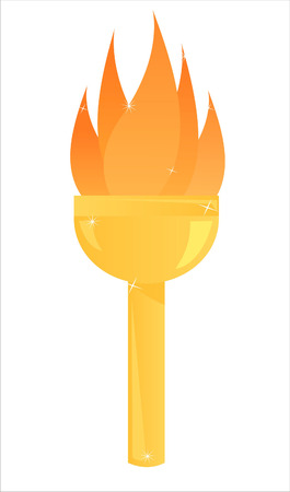 olympic torch illustration Vector