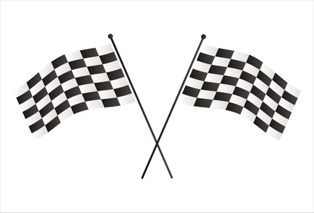 racing flags isolated on white Illustration