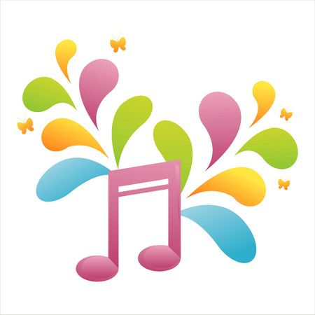 colorful musical note background Stock Vector - 7538073