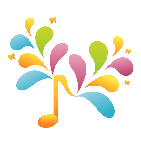 colorful musical note background Stock Vector - 7538098