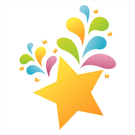 colorful star background Stock Vector - 7538097