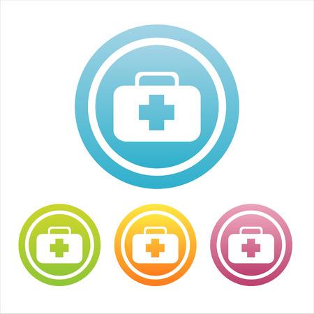 4 カラフルな医療標識のセット
