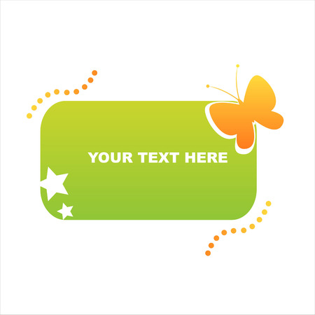 colorful butterfly frame Vector