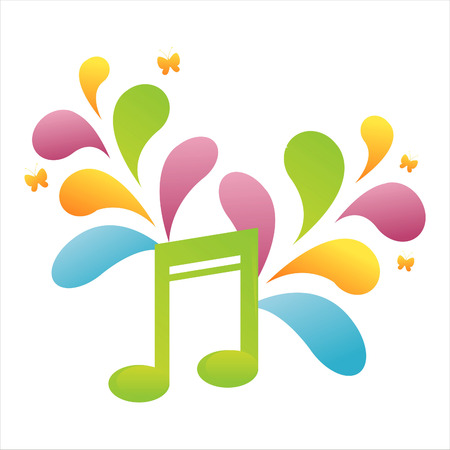 colorful musical note background Stock Vector - 7538194