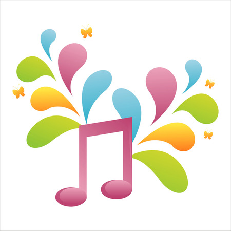 colorful musical note background Stock Vector - 7538270