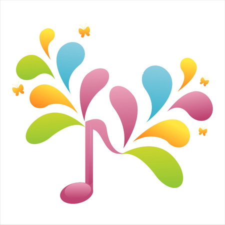 musical note: colorful musical note background Illustration