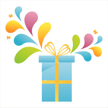gift with colorful splash Vector