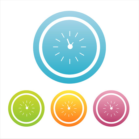 set of 4 colorful clock signs Stock Vector - 7538358