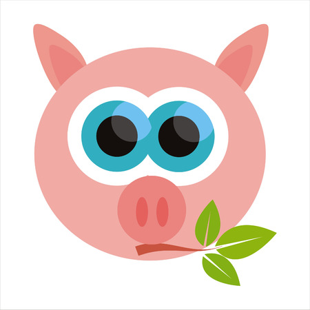 cute pig: pig isolated on white Illustration