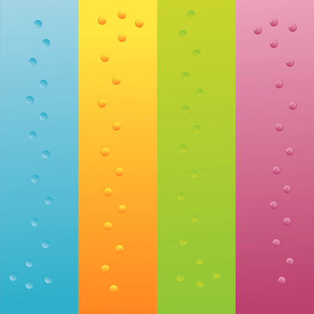 set of 4 colorful backgrounds with bubbles