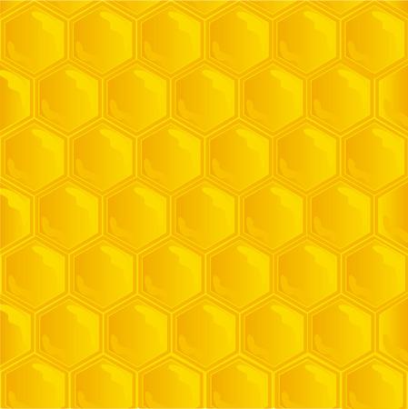 honey comb: honeycombs texture Illustration