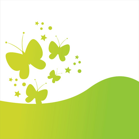 stylish butterfly background Stock Vector - 7538623