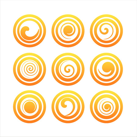 orange swirl: set of 9 orange swirl signs