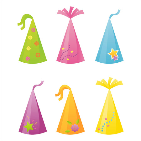 set of 6 birthday hats