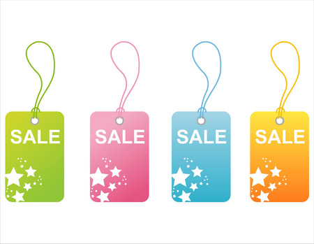 money cosmos: set of 4 sale tags