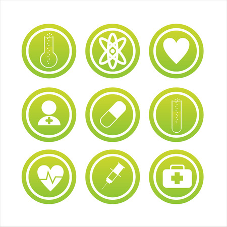 set of 9 medical signs Vector