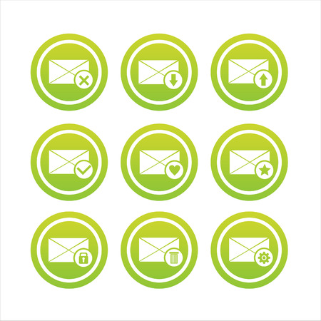 set of 9 letter signs Stock Vector - 7571011
